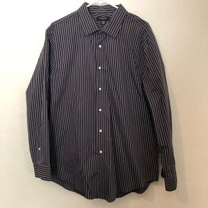 Mens, Black and White Button Down Shirt